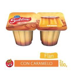 Flan Vainilla con Caramelo x 2 un. Sublime x 200 g.