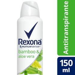 Antitranspirante Aerosol Rexona Bamboo y Aloe x 150 cc.