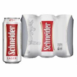 Cerveza Schneider Pack x 6 Latas de 473 cc.