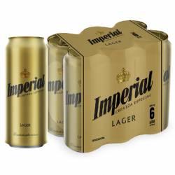 Cerveza Imperial Pack x 6 Latas de 473 cc.