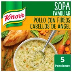 Sopa de Pollo con Fideos Knorr Cabello de Ángel x 105 g,