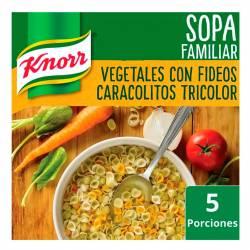Sopa de Vegetales con Fideos Caracol Knorr x 107 g.