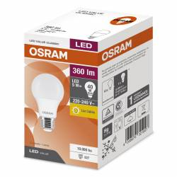 Lámpara Led 5W Luz Cálida E27 Value Osram x 1 un.