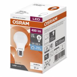 Lámpara Led 5W Luz Fría E27 Value Osram x 1 un.