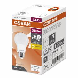 Lámpara Led 10W Luz Cálida E27 Value Osram x 1 un.