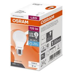 Lámpara Led 9W Luz Fría E27 Value Osram x 1 un.