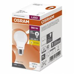 Lámpara Led 12W Luz Cálida E27 Value Osram x 1 un.
