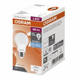 Lámpara Led 12W Luz Fría E27 Value Osram x 1 un.