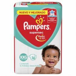 Pañal Pampers Súper Sec Mega Pack XXG x 16 un.