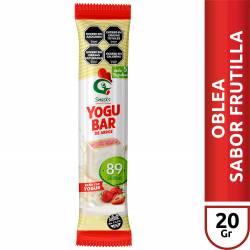 Oblea de Arroz Yogubar sabor Frutilla x 20 g.