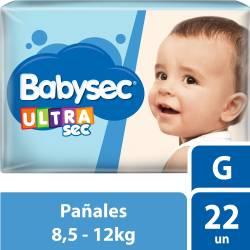 Pañal Babysec Ultra Sec G x 22 un.