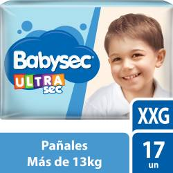 Pañal Babysec Ultra Sec XXG x 17 un.