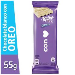 Chocolate Blanco Milka con Galletitas Oreo x 55 g.