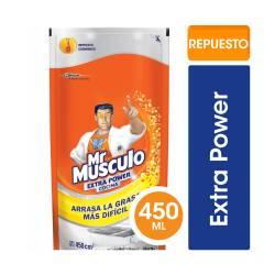 Limpiador Líquido Cocina Mr. Musculo Extra Power Doy Pack x 450 cc.