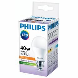 Lámpara Led 4W Luz Cálida E27 Philips x 1 un.