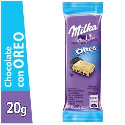 Chocolate Blanco Milka con Galletitas Oreo x 20 g.