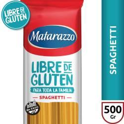 Fideos Spaghetti Libre de Gluten Matarazzo x 500 g.