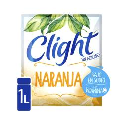 Polvo para preparar jugo Clight Naranja x 7 g.