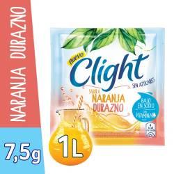 Polvo para preparar jugo Clight Naranja Durazno x 7 g.