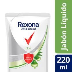 Jabón Líquido para Manos Antibacterial Rexona Aloe Vera Doy Pack x 220 g.