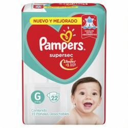 Pañal Pampers Súper Sec Mega Pack G x 22 un.