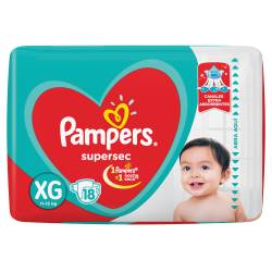 Pañal Pampers Súper Sec Mega Pack XG x 18 un.