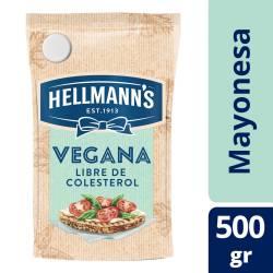 Aderezo Vegano Hellmanns Libre de Colesterol Doy Pack x 500 g.