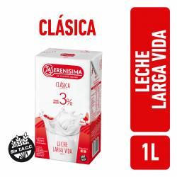 Leche L.V. Entera Clásica La Serenísima 3% Tenor Graso x 1 lt.