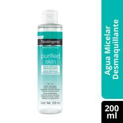 Agua Micelar Neutrogena Desmaq. Purif. Skin x 200 cc.