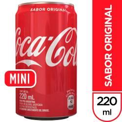 Gaseosa Cola Lata Coca-Cola x 220 cc.