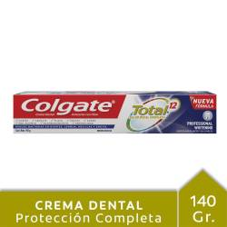 Crema Dental Total 12 Colgate Whitening x 140 g.