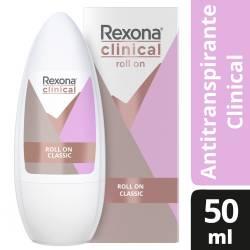 Antitranspirante Roll On Rexona Clinical Classic x 50 cc.