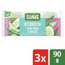 Jabón Tocador Suave Pepino y Aloe x 3 un. x 270 g.