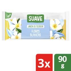 Jabón Tocador Suave Flores Blancas x 3 un. x 270 g.