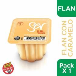 Flan con Caramelo Ser x 95 g.