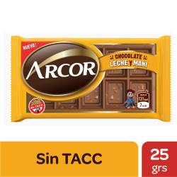 Chocolate con Leche y Maní Arcor x 25 g.