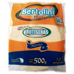 Tapas para Empanadas Rotiseras para Horno Bertolini x 500 g.