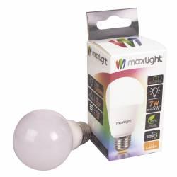 Lámpara Led 7W Luz Cálida E27 Maxlight x 1 un.