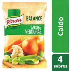 Caldo de Verduras Knorr s/calorías x 12 g.