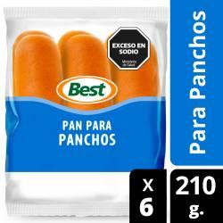 Pan para Pancho x 6 un. Best x 210 g.