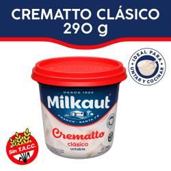 Queso untable Milkaut Crematto x 290 g.