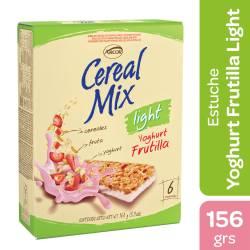 Cereal en Barra Cereal Mix Yogur Frutilla Light x 6 un. x 156 g.
