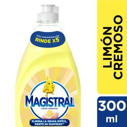 Detergente Líquido Magistral Limón Cremoso x 300 cc.