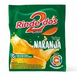 Polvo para preparar jugo Rinde2 Naranja x 18 g.