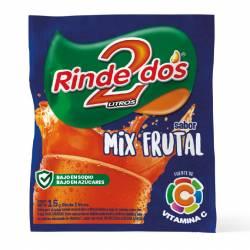 Polvo para preparar jugo Rinde2 Mix Frutal x 18 g.