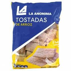 Tostadas de Arroz Libre de Gluten La Anónima x 120 g.