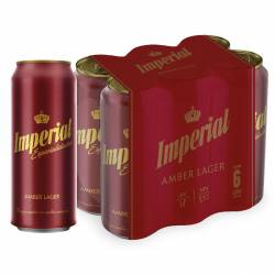 Cerveza Roja Imperial Amber Lager Pack x 6 Latas de 473 cc.