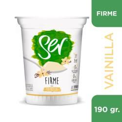 Yogur Descremado firme Vainilla Ser x 190 g.