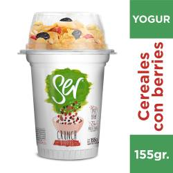 Yogur Descremado Crunch Berries Ser x 155 g.