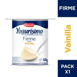 Yogur Entero Firme Vainilla Yogurisimo x 120 g.